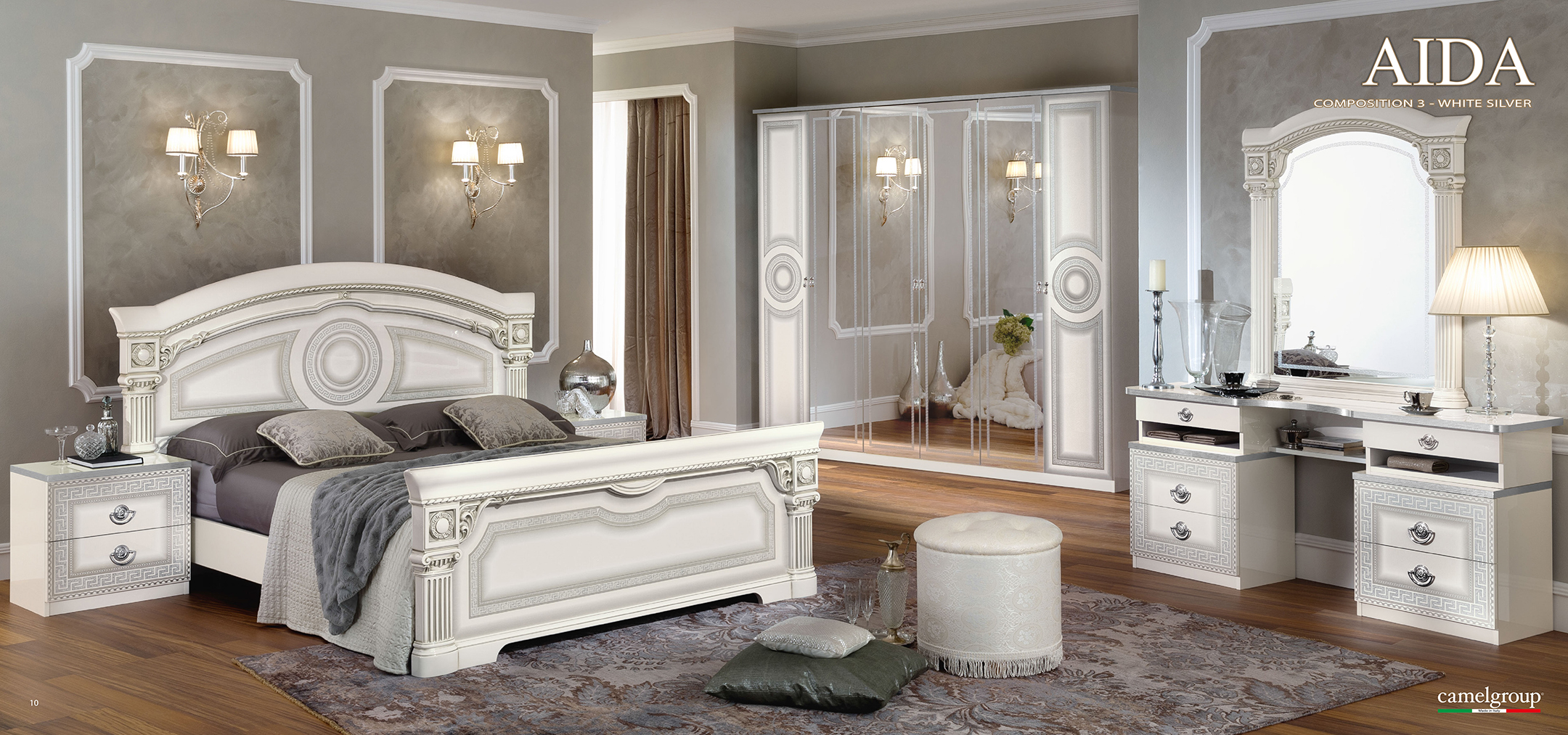 Aida White W Silver Camelgroup Italy More Images And Dimensions Bed